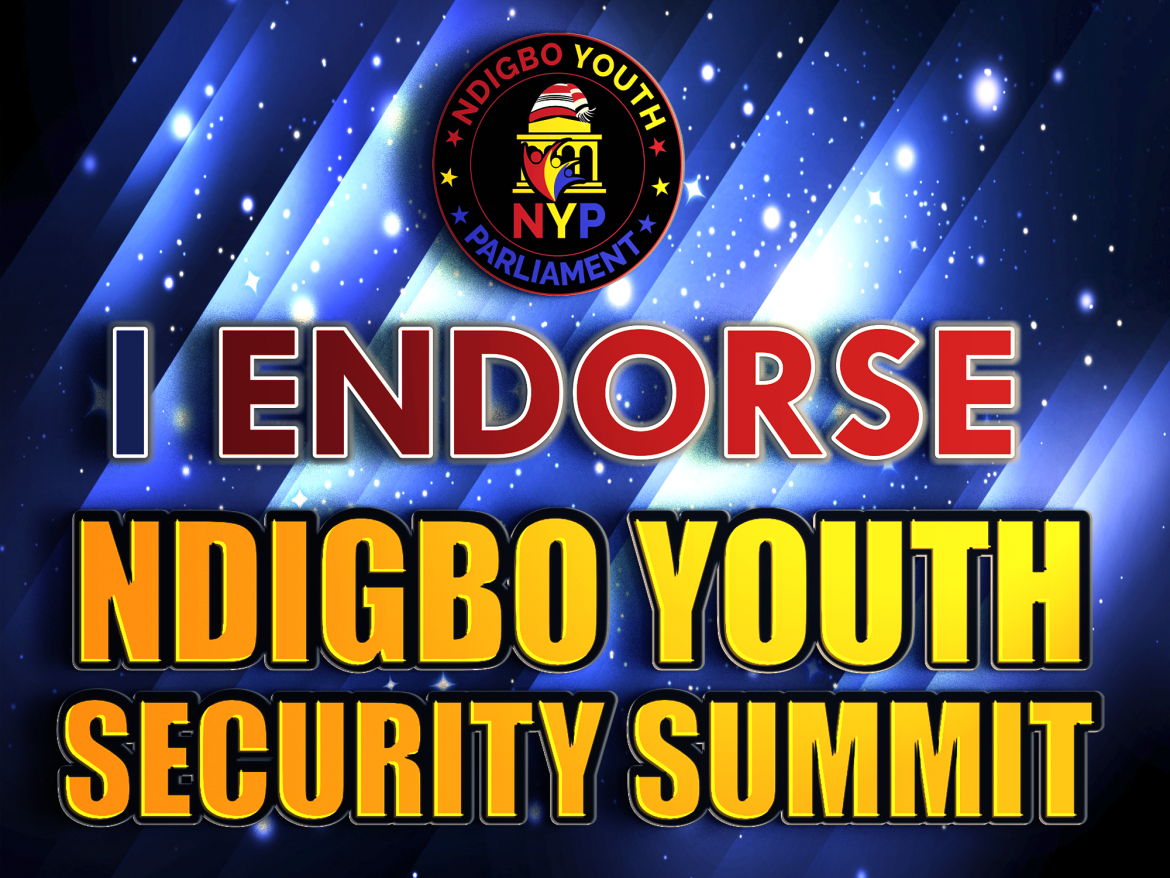 Endorsement for Ndigbo Youth Security Summit