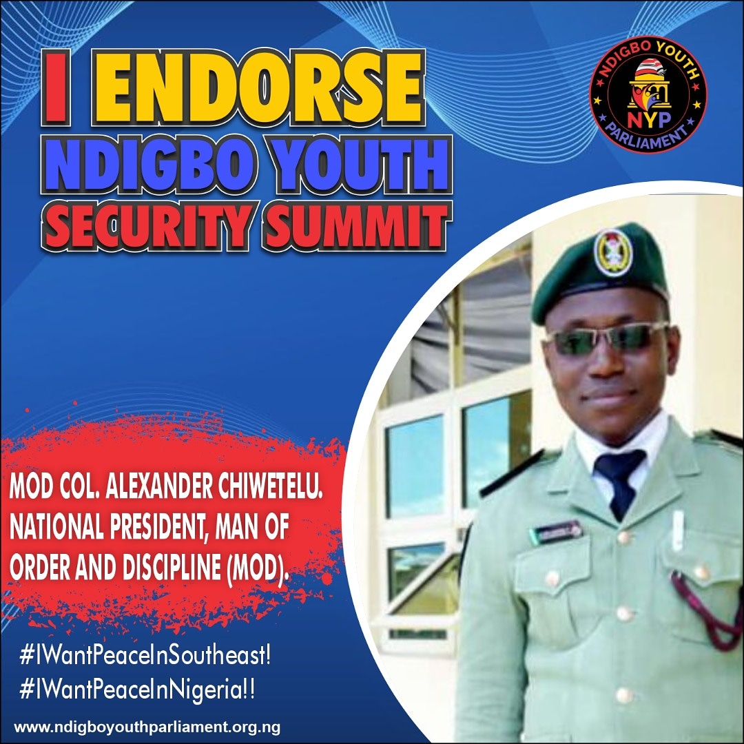 Ndigbo Youth Security Summit: More Youth Leaders Endorse
